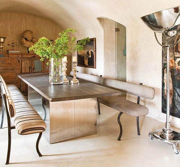 Muebles rustico moderno: salon rustico moderno.