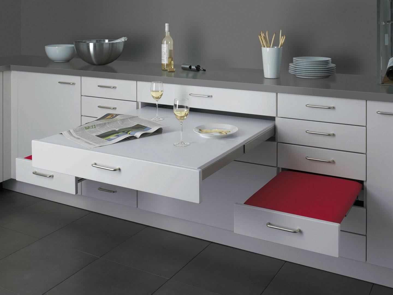 Espacios comedor en la cocina for Mobiliario para cocinas pequenas