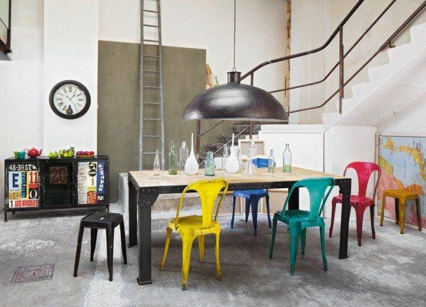 Sillas de comedor para un loft industrial :: Imágenes y fotos
